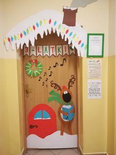 Świąteczna dekoracja drzwi