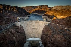 The Hoover Dam, in the Black Canyon of the Colorado river on the border between Arizona and Nevada,