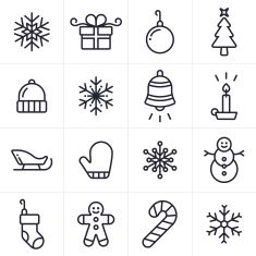 Holiday and Christmas Icons and Symbols