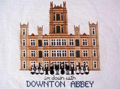 Downton Abbey Kreuz Stichbild von cottagenestinteriors auf Etsy