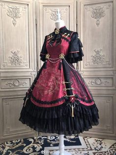 Cosplay Outfits, Anime Outfits, Mode Outfits, Dress Outfits, Fashion Dresses, Gothic Mode, Gothic Lolita, Lolita Style, Mode Geek