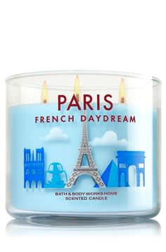 Celebrate the city of love with the romantic blend of muguet, soft freesia & sandalwood in this Bath & Body Works Paris candle. Three wicks for extra ambiance - ) Bath Candles, 3 Wick Candles, Home Candles, Scented Candles, Yankee Candles, Home Scents, Home Fragrances, Bath N Body Works, Bath And Body