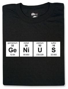 Esta para nada pretenciosa camiseta de la tabla periódica.  df86f9f5aca