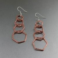 Hammered Copper Tiered Ring Earrings. Guaranteed flattery   http://www.ilovecopperjewelry.com/hammered-copper-tiered-ring-earrings.html  $45.00