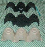 Egg Carton Bat for easy Halloween decorating