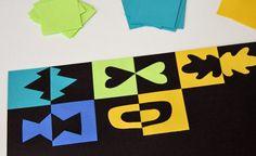 Bold and colorful positive and negative paper project