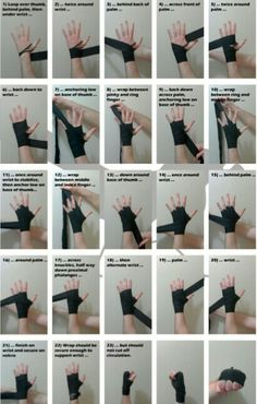 Martial arts - Short guide which outlines a fast and secure way to wrap the hands for boxing Good to know for when I start wrapping in kickboxing Survival Tips, Survival Skills, Boxe Fitness, Boxing Hand Wraps, Muay Thai Hand Wraps, Boxing Training, Boxing Boxing, Boxing Workout With Bag, Punching Bag Workout