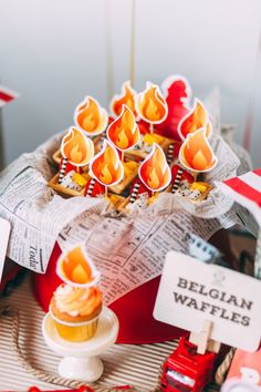 Fruit tarts from a Rustic Firefighter Birthday Party via Kara's Party Ideas KarasPartyIdeas.com (26)