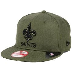 New Era New Orleans Saints Camo 9FIFTY Snapback Cap ($32) ❤ liked on Polyvore featuring mens, men's accessories, men's hats and camo