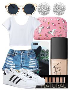 """""""×Hol' Up , We Dem Boyz×"""" by rich-princesa ❤ liked on Polyvore featuring Forever 21, NARS Cosmetics, adidas, Retrò and Henri Bendel"""