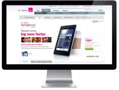 T-Mobile Tablet Website Series by Bryan Hall, via Behance