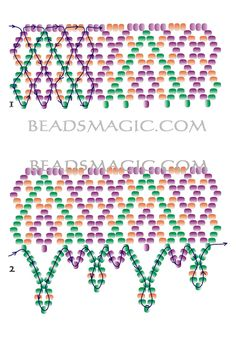 Free beading pattern for necklace Brigitte      U can use seed beads 10/0 - 11/0 - 13/0      [ad#Ads_post]