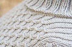 How To Knit Smocking.  YouTube video plus free pattern for this sweater.