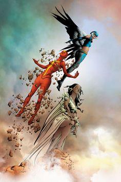 Comics Illustrator of the Week :: Jae Lee Marvel Vs, Marvel Dc Comics, Jae Lee, Hawkgirl, Dc Comics Art, Batman And Superman, Comics Universe, Comic Books Art, Book Art