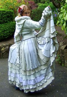 "White ""Enchanted Dove"" Fairy Coat. All patchwork, upcycled materials. I love these... Just seems like they would be so cozy and fun to wear!"