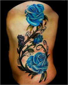 pinterest tattoos of blue flowers | Labels: Flower Tattoos , Rose Tattoos