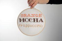 Zoolander Orange Mocha Frappuccino telaio da appendere di LucyvanFelt su Etsy