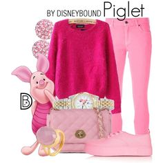 Disney Bound: Piglet from Disney's Winnie the Pooh Disney Bound Outfits Casual, Cute Disney Outfits, Disney Princess Outfits, Disney Themed Outfits, Disney Dresses, Casual Outfits, Cute Outfits, Fashion Outfits, Fashion Trends