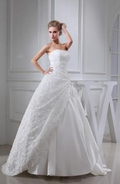 Elegant Taffeta Bridal Dresses - Order Link: http://www.theweddingdresses.com/elegant-taffeta-bridal-dresses-twdn5866.html - Embellishments: Lace; Length: Floor Length; Fabric: Taffeta; Waist: Natural - Price: 289.99USD
