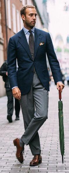 Fasion, Men's Fashion, Fashion Outfits, Beard Suit, Men Wear, Men Clothes, Suit And Tie, Dark Colors, Men's Style
