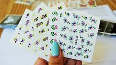 Free Shipping - FLoral Nail Decal,Nail Sticker,spring/fall flower nail decal, 5 sheets of water transfer nail art with 20 pcs each sheet