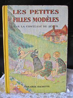 Antique french book Comtesse de Segur  Les by myfrenchycottage,
