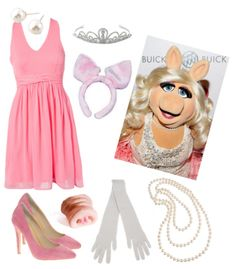 Miss Piggy Halloween Costume Idea.ummm I actually want to be miss piggy for Halloween lol Miss Piggy Halloween Costume, Cute Halloween Costumes, Halloween Kostüm, Holidays Halloween, Diy Costumes, Costume Ideas, Halloween Customs, Halloween Clothes, Halloween Movies