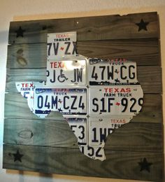 License Plate State Upcycle. I really really like the idea but I would do the whole united states. Not just one state!!