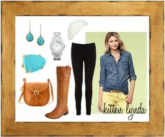 """Denim Shirt"" by dadada20 on Polyvore"
