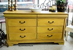 Buffet Makeover in Mustard Yellow