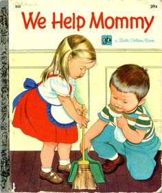 We Help Mommy, 1959, 7th printing, 1972... Pictures by Eloise Wilkin