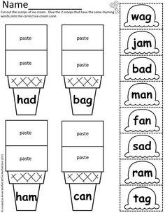 math worksheet : rhyming worksheets for kindergarten  rhyming words for  : Cut And Paste Rhyming Worksheets For Kindergarten