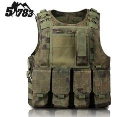 51783 Hot New Hunting Military Airsoft MOLLE Nylon Combat Paintball Tactical Vest Outdoor Products hunting Vest Nylon Vests