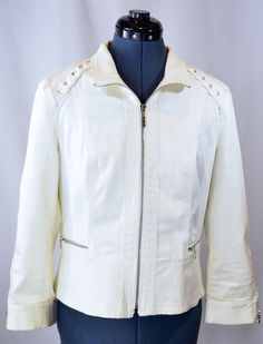 White House Black Market Off White Jacket. Subtle hints of corsetry adorn this jacket. Get the look, without sacrificing your oxygen.