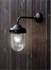 Barn Light in Black is a stylish and durable outdoor garden wall light ideal for a porch, garage or shed