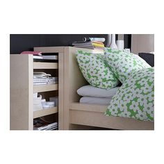 MALM headboard/bed shelf set IKEA Concealed storage for things that you want to keep within easy reach. Furniture, Headboard Designs, Ikea Bedroom Furniture, Bed Shelves, Ikea, Headboard Storage, Buy Bedroom Furniture, Malm Bed, Headboard