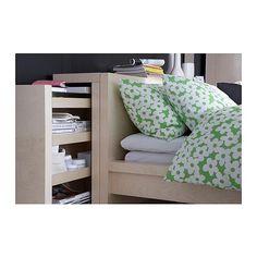 MALM 3-piece headboard/bed shelf set - birch veneer, 160 cm - IKEA