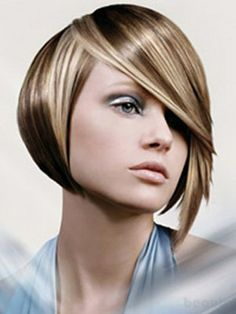 Hair Style Compilation : hair style for short hair. Love the side sweep