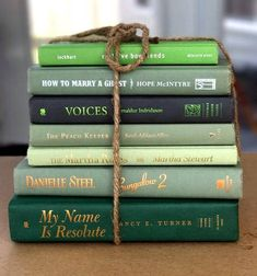 Green Centerpieces, Wedding Centerpieces, Green Books, Stack Of Books, Reading Material, Shades Of Green, St Patricks Day, Mantle, House Warming