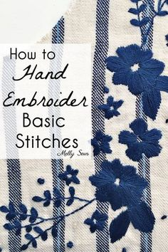 Tutorial: Basic embroidery stitches