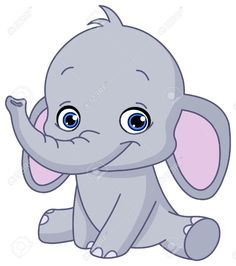 Illustration of Baby elephant vector art, clipart and stock vectors. Elephant Illustration, Cute Illustration, Cute Animals With Funny Captions, Cute Baby Animals, Baby Elephant Drawing, Elephant Baby, Funny Baby Gif, Elephant Images, Baby Elephants