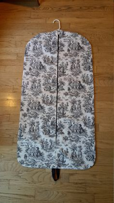Women's Black and White Toile Hanging Garment Bag by CarryItWell on Etsy Rebecca Brown, Etsy Cards, College Gifts, Garment Bags, Handmade Items, Handmade Gifts, Grosgrain Ribbon, Graduation Gifts, Ikat