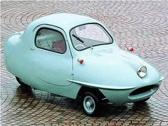 1955 Fuji Fujicabin Model 5A - a three wheel car.
