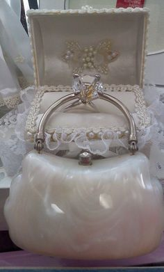 elegant lucite purse
