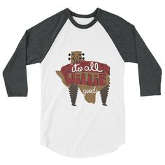 f02695a7ea9 Unisex 3 4 sleeve raglan shirt - It s All Willie Good. Raglan ShirtsUnisex