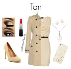 """""""Tan"""" by goddess-of-books ❤ liked on Polyvore featuring Forzieri, Kate Spade, Top Guy, Burberry, MAC Cosmetics and GoddessOfBooks"""