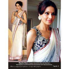 Triveni Bipasha Basu White Net Indi - by TriveniSarees - Buy Online Jewellery - MTRIV38820469000