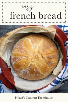 This easy French bread recipe is baked in your Dutch oven for crusty outside and soft crumb. It's an easy recipe great for beginners who want to try homemade bread for the first time. This is extra quick when kneaded in your bread machine. Dutch Oven Bread, Dutch Oven Recipes, Quick Bread Recipes, Bread Machine Recipes, Easy Recipes, Artisan Bread Recipes, Dutch Oven Cooking, Crockpot Recipes, Chicken Recipes