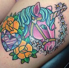 tattoo Kelly McGrath unicorn