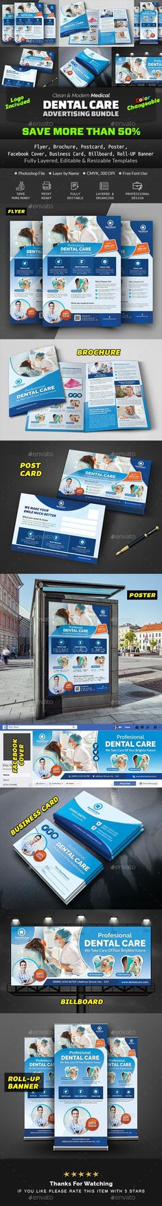 Buy Dental Advertising Bundle by Creative-Touch on GraphicRiver. This Advertising Bundle is perfectly suitable for promoting your Business. You can also use this templates in multipu. Medical Health Care, Add Image, Promote Your Business, Car Wash, Very Well, Letter Size, Make It Simple, Dental, Advertising